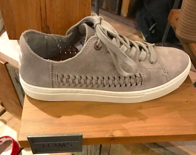 TOMS Lenox Sneaker in taupe suede. Retail ~90.00
